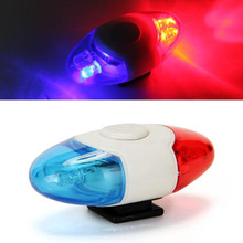 Super Mini Waterproof Police Light 4 LED Red Blue 4 Flash Mode Bicycle Cycling Rear Light Safety Warning Tail Bike Light Lamp(China)