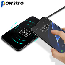 Powstro Qi Wireless Charger 5W Wireless Charger Fast Charging DC 5V/ 2A For All Qi-Enabled Devices Support For iPhone 8/X 8Plus(China)