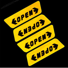 4pcs/set Car styling Door Open Warning Stickers For Fiat Panda Bravo Punto Linea Croma 500 595 Car Styling(China)