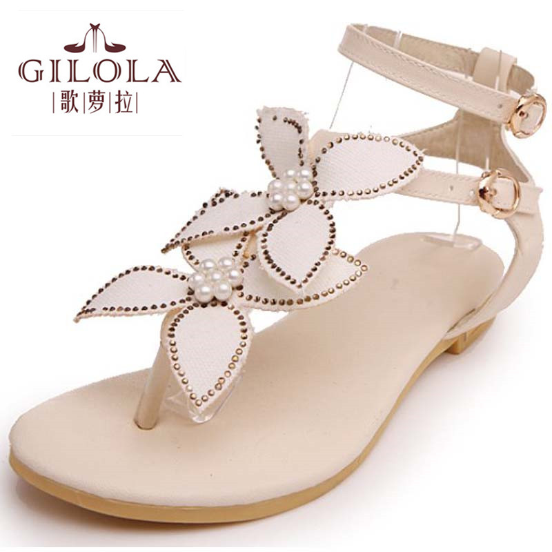 2016 new student flat womens sandals flip flops women sandals ladies spring summer shoes woman gold silver shoes #Y0564608F<br><br>Aliexpress