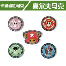 2017 New Cartoon Golf Ball Marker Magnet Behind But Without Golf Hat Clip Free Shipping
