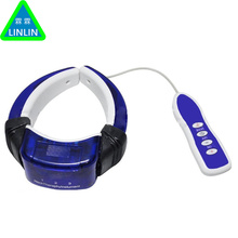 Electric magnetic shiatsu pulse back neck cervical traction massage collar infrared therapy massager spine vertebra instrument