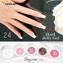 60915# Venalisa Nail Art 24 Colors Hard Jelly Gel Soak Off UV LED Camouflage Builder Gel For  Extentation New Design