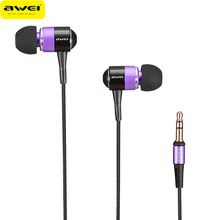 Hot Sale Awei ES Q3 In-Ear Earphone Stereo Earbuds Super Bass Sound Earphone For Mobile Phone For iPhone MP3/MP4 Players