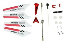 SYMA Wheel Gear Set Wings Tail Props Balance Bar Full Replacement Parts Set for Syma S107G RC Helicopter(Set of 19,Red)