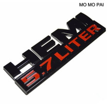 MOMO PAI Hot New Black HEMI Red 5.7 LITE Decal Emblem Badge Nameplate fit for Dodge Ram - Glossy stickers(China)