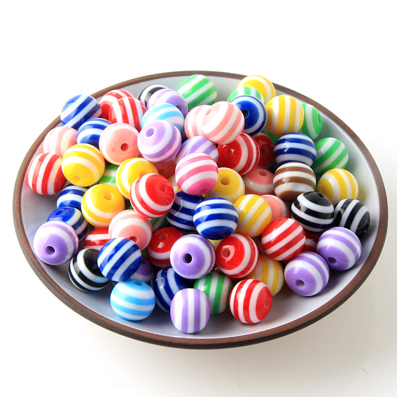 100  Resin Evil Eye mixed beads 8mm Jewellery Making Random Mix