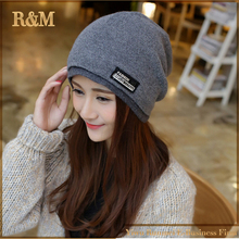 Fashion Skullies Beanies Women Hat Knit Hat Female Cap Man Winter Hat For Women Beanie Unisex Pure Color Headgear Wholesale