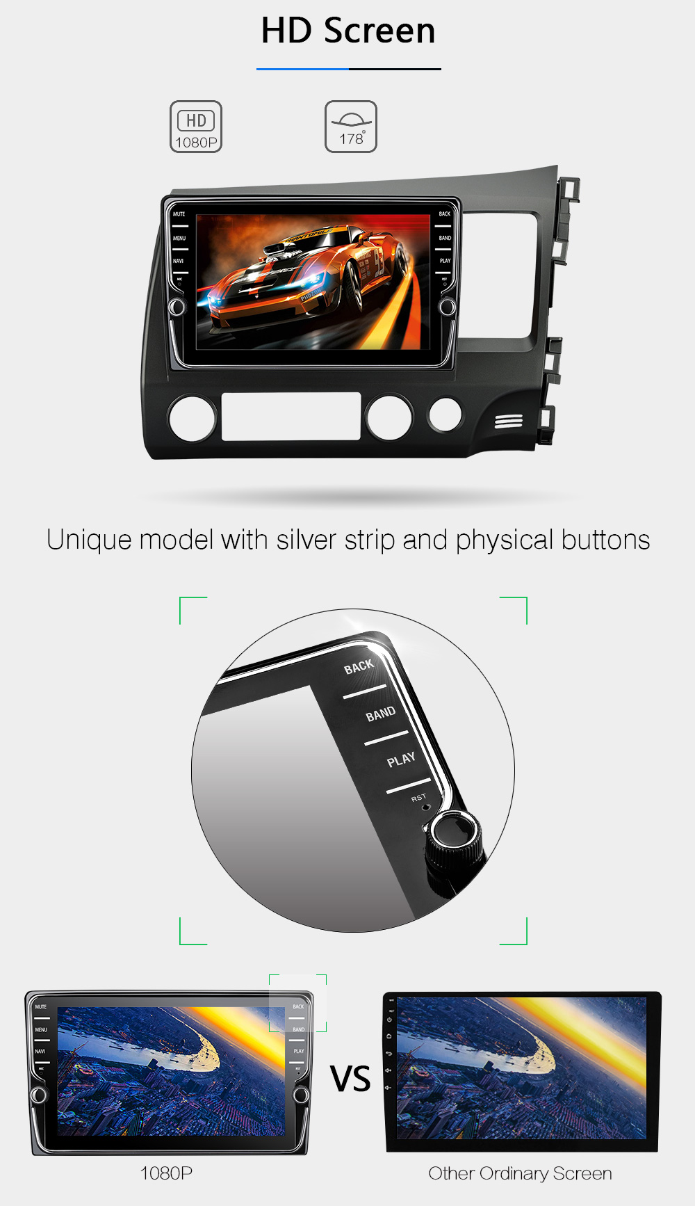 Seicane Android 6.0 10.1 inch Car Radio 2Din Quad Core HD 1024600 Tochscreen Multimedia Player For Honda Civic