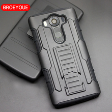 BROEYOUE For LG Nexus 5 Case Holster Hard Case Cover For LG Nexus 4 5 6 G2 G3 G4 G5 8 Stylus 3 C40 C70 V10 K7 Phone Cases(China)
