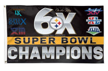 Pittsburgh Steelers 6X Super Bowl Champions Man Cave Sports Banner Basketball Flag 3' x 5' Custom Hockey Baseball Football Flag