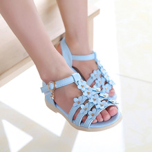 Summer style children sandals Girls princess beautiful flower shoes kids flat Sandals baby Shoes wholesale tide sneakers