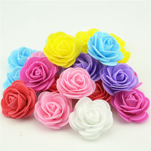 20PCS/lot 4cm Thicker PE Foam Rose Handmade Wedding Home Decoration  Artificial Flower Head For DIY Flower Ball Party Supplies