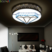 CS89618  remote control ceiling mounted modern led dimming lights acryl round small bedroom living room ceiling lights lighting