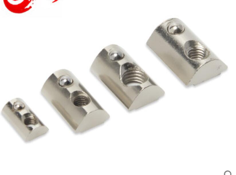 M4 M5 M6 M8 T-Nut Round Roll T Slot Spring Nut 4040//4545 Series Nickel Plated