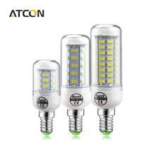 1Pcs 100% Original SAMRT IC Design NO Flicker LED lamp 220V E14 24 - 89 LEDs LED Corn Bulb Spotlight For Home Health lighting