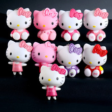 Cartoon Cute Hello Kitty Doll KT Cat Keychains Women Girls Charm Bags Key Rings Accessories Pendant Car Key Chains Wholesale