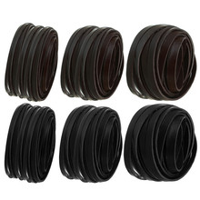 LINSOIR 5m/lot 3mm 5mm 10mm Black Brown Flat Leather Cord Genuine Leather Rope Thread For Diy Jewelry Making Bracelet Findings