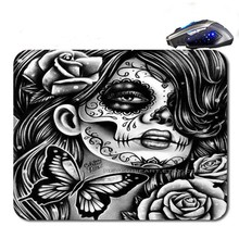 Los Muertos Drawing  Hot Selling Antislip High Definition Printing Gaming Rubber  Mouse Pad Cheap Computer Desk Free Shipping