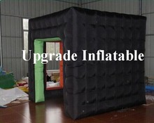 durable advertising cube black inflatable photo booth tent for sale