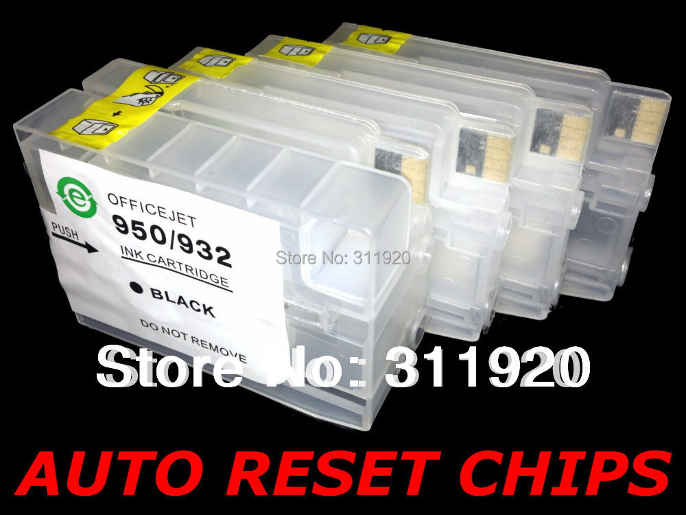 For HP 950 951 Refillable Ink Cartridge With Chips Show Ink Level For HP 8600 8100 8610 8615 8620 8625 8680 8630 8640 8660 8616<br><br>Aliexpress