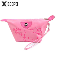 Cartoon Hello Kitty Travel Cosmetic Bag Women Zipper Make Up Bag Makeup Case Necessaries Organizer Storage Pouch Toiletry Bag