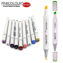 Finecolour EF101 Grayscale Marker Skin Tone Pens 12pcs Dual Alcohol Water Resistant Sketch Markers Design Comic Manga Interior(China)