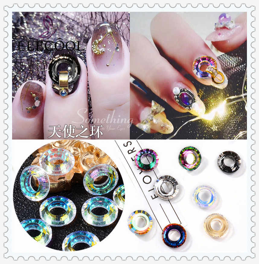 Detail Feedback Questions about ELECOOL Nail Art Crystal Round Circle Rhinestones  Charms Jewelry Gems Circles Nail Stones for 3D Manicure Decorations Tools  ... c303af99014a