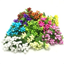 144PCS/lot Mulberry party Artificial Flower Stamen wire stem Smooth monochromatic marriage leaves stamen wedding box decoration(China)