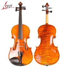 TONGLING Brand Full Hand-made Alcohol Paint Violin 15 Years Old Naturally Dried Stripes Maple Hand-craft Professional Violin 4/4