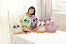 40*32cm super cute hot sale plush bird toy doll stuffed pillow/cushion toy with blanket inside birthday gift for girls