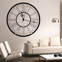 CLOCK Vinyl Wall Decal Sticker Art Decor Bedroom Design Mural interior design motivation Family Home Decorative 23 in x 23 in