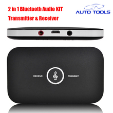 2 in 1 Wireless Stereo Audio Receiver Music Bluetooth Transmitter Receiver Adapter bluetooth car kit car styling(China)