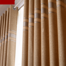 Free shipping Finished curtian  high-grade modern simple living room bedroom full shade Double jacquard cloth curtains M046