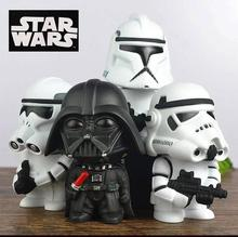 Disney Star Wars The Force Awakens Anakin Skywalker/Darth Vader First Order Stormtrooper VINYL piggy bank doll toy Kids 15cm