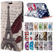 coque Blackberry DTEK50 case Eiffel Tower Wallet Leather Flip Card Holder cover Case For Blackberry DTEK50 NEON  phone case bags