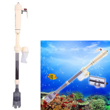 Aquarium Battery Operated Powered Syphon Vacuum Gravel Siphon Fish Tank Water Exchange Pump Filter Sand Clean Tool Pet Accessory(China)