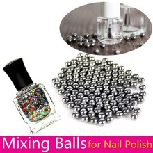 20pcs Nail Polish Mixing Balls Stainless Steel Beads for Glitter Polish 5mm(China)