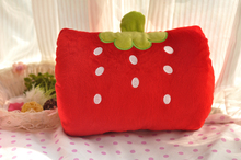 red strawberry design 30cm hand warmer plush toy gift w2783