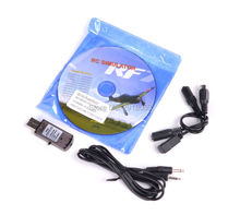 New 22 in 1 Simulater RC USB Flight Simulator Cable for Realfly G7 / G6 G5.5 G5 Flysky FS-I6 FS-TH9X FS-T6 FS-CT6B(China)