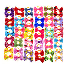 80pcs Pet Dog Hair Accessories Rubber Bands Pet Cat Hair Bows Pet Dot Grooming Products Pet shop Dog Accessories 30 styles(China)