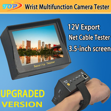 3.5 inch TFT LCD MONITOR COLOR Surveillance Analog CAMERA TESTER With Network Cable Test Function Freeshipping