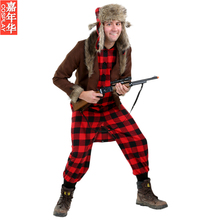 2017 New IREK Halloween Costume Adult cosplay party costume rabbit hunter performance suit role-playing wear