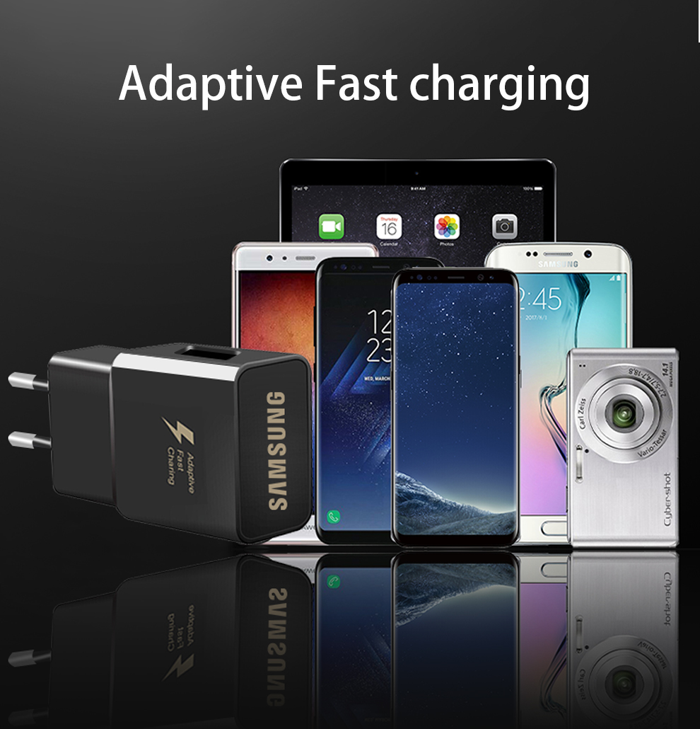 6Samsung S8 S9 Plus S 8 Snelle Lader Originele Adaptieve  Travel Fast Charger 9V1. 67A & 5 V 2A Type-C Adaptieve Quick Charger EUUSKU