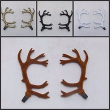 The simulation simulation of sika deer antlers photography props Christmas products accessories Shooting headdress antlers(China)