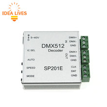 SP201E DMX512 Decoder Operation Instructions LED Controller Support Almost Every Kind of LED-DRIVER-IC RGB Controller