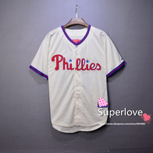 Men/Women Short Sleeve Phillies Baseball Jersey Quick Dry Sport Hip Hop/Base Suit Jerseys/Shirt/Custom For Homme/Hombre/Mujer