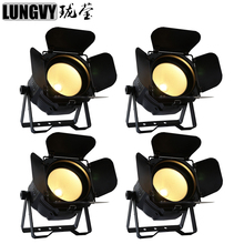 Free Shipping 4pcs/lot Warm Cold White Par64 Light 200W COB Led Par Stage Light For Disco Party