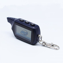 LCD Remote Controller Keychain Key Fob Chain 2-way For Russian Version 2 way Car Alarm System Twage Starline B9(China)