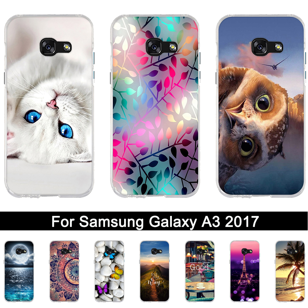 Case Samsung Galaxy A3 2017 Luxury Soft Silicone Back Cover Case A3 2017 A320F A320 fundas samsung 3 2017 Coque